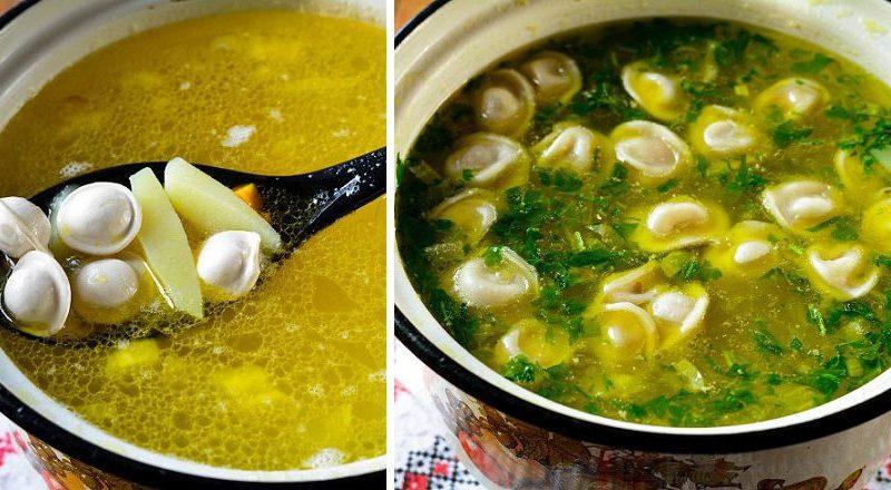 Ароматный суп с пельменями: одно из любимых блюд